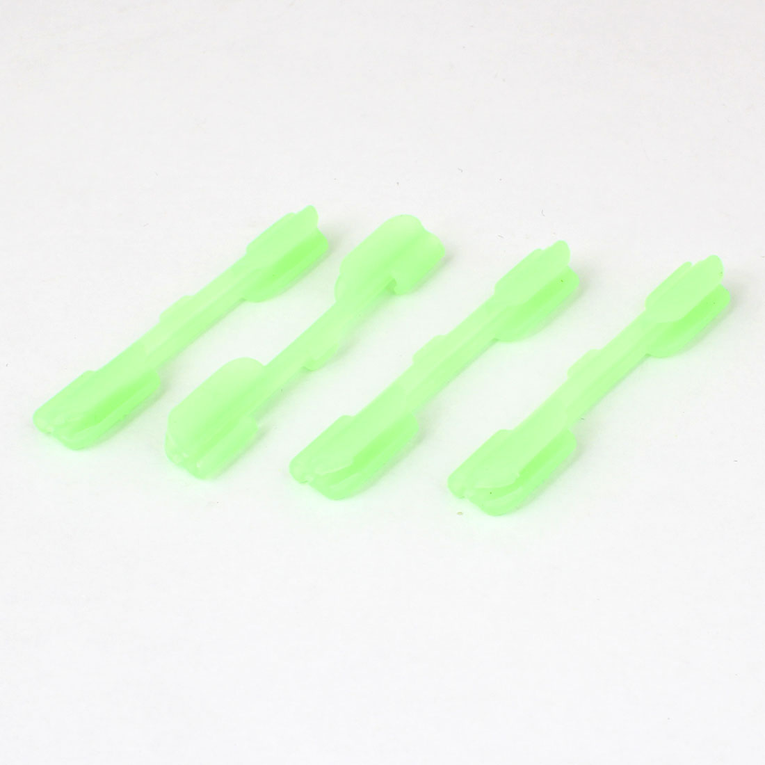 45mm Long Light Green Fluorescent Luminous Plastic Sleeve Tube for Fishing 4 Pcs