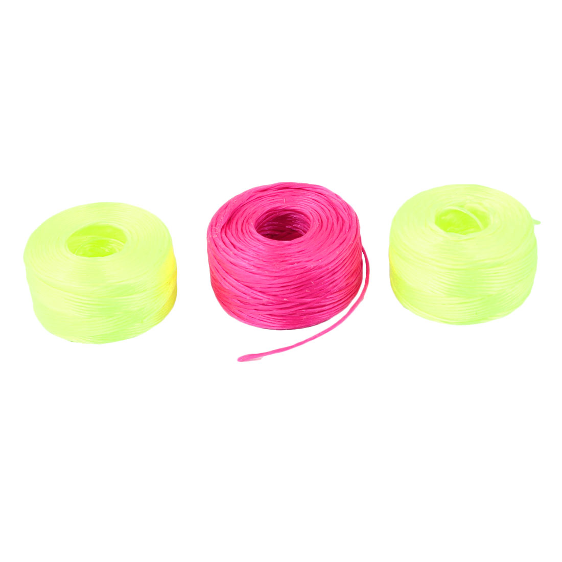 3PCS 0.203mm Dia Fuchsia Yellow Green Nylon Freshwater Fishing Line String 300M