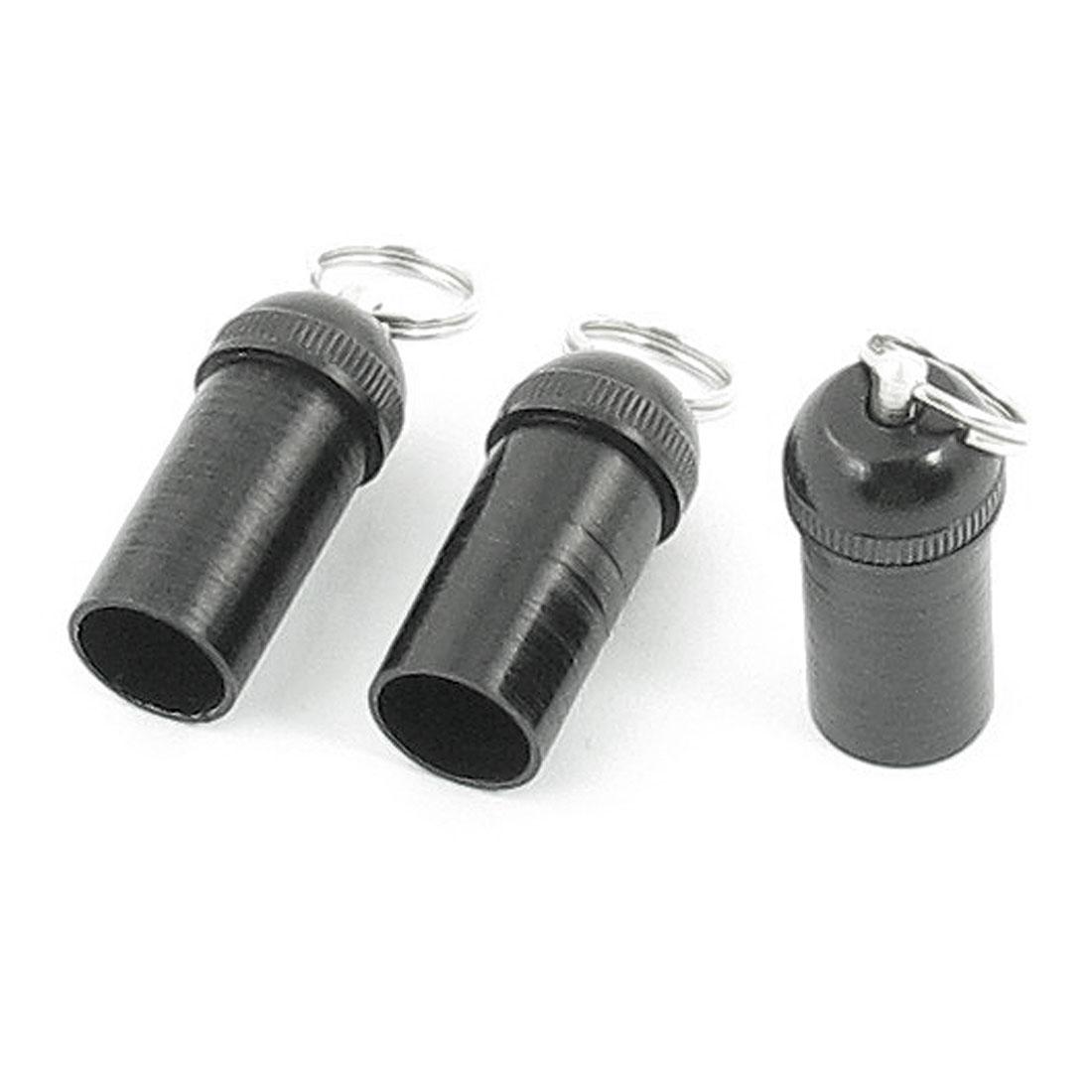 Plastic 10mm Diameter End Stopper Cap w Ring for Fishing Pole