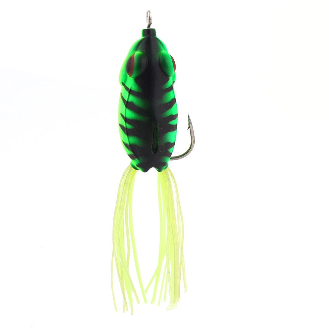 Soft Silicone Artificial Snakehead Frog Lure Fishing Baits Green Black