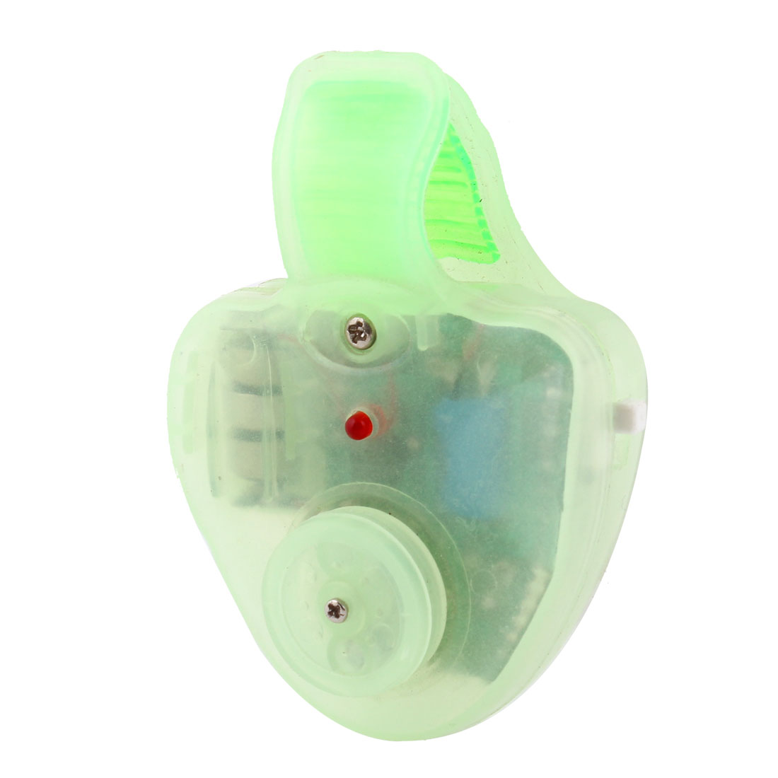 Clear Green Plastic Housing Fishing Alarm Bell w LED Light