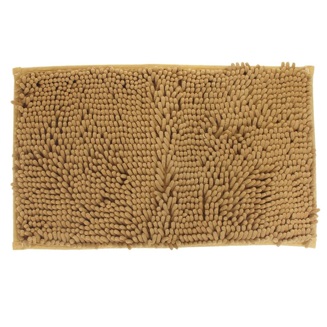 """Room Floor Khaki Rectangle Shape Shaggy Area Rug Carpet 11.8"""" x 19.7"""""""