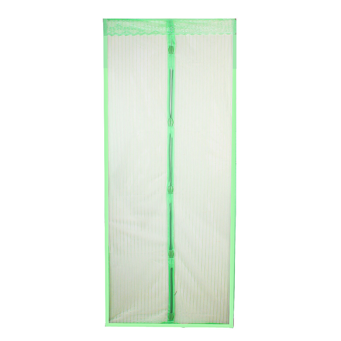 Home House 2.06 x 0.46m Green Nylon Magnetic Door Curtain w Installing Screws