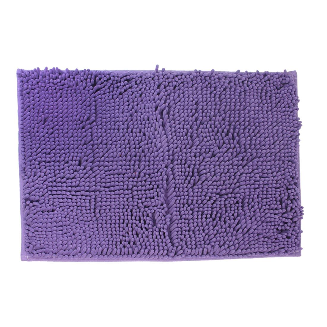 Bedroom Hallway Purple Rectangle Shaped Nonslip Mat Area Rug Carpet 40cm x 60cm