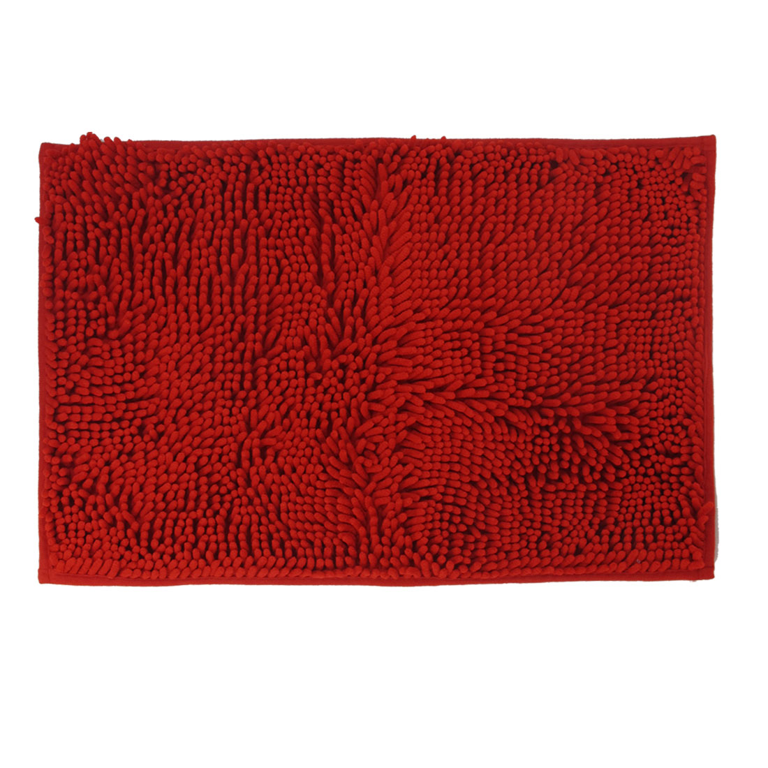 "15.7"" x 23.6"" Rectangle Shape Room Shaggy Door Mat Floor Area Rug Carpet Red"