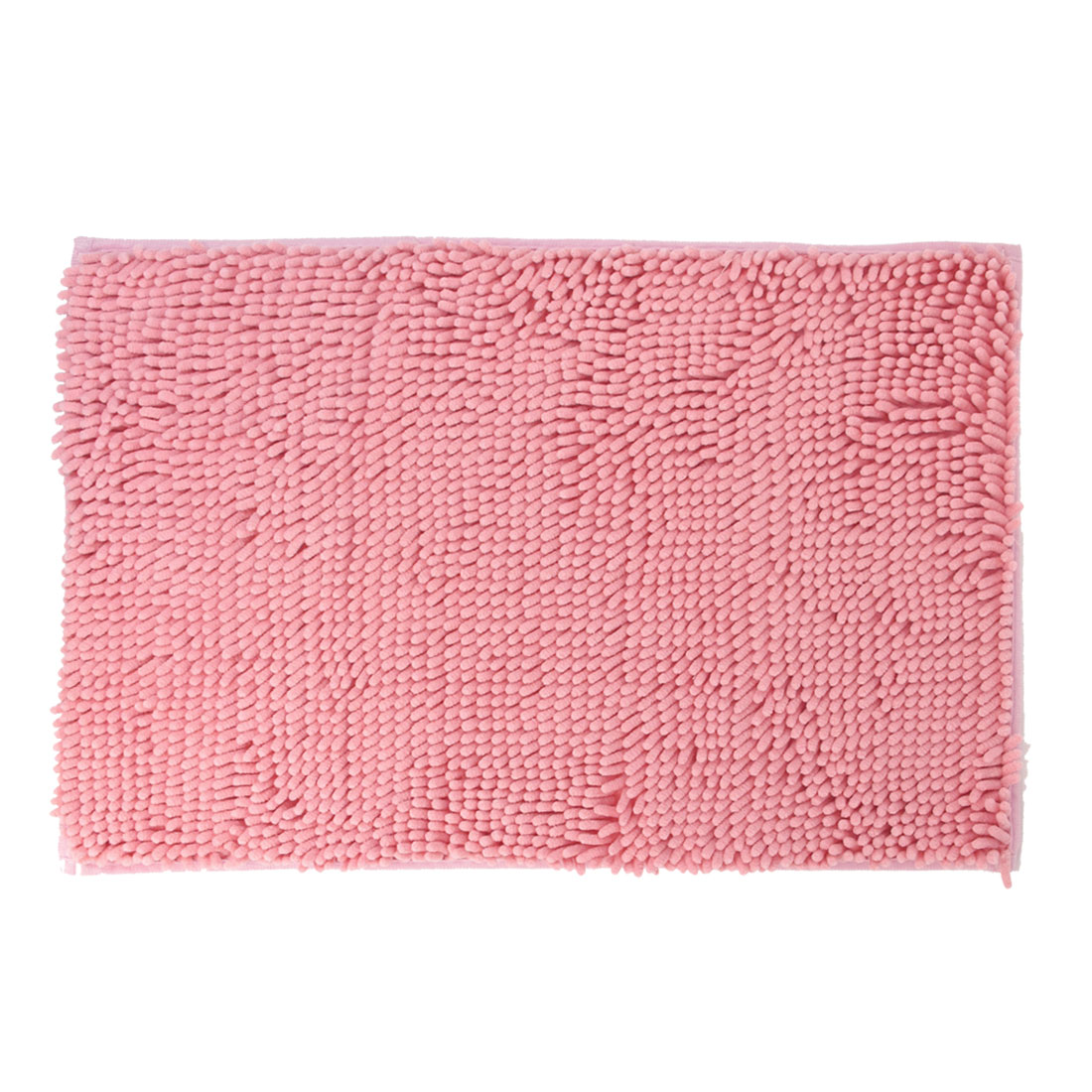 Coral Pink Antislip Microfiber Chenille Rectangular Shaped Mat Area Rug Carpet
