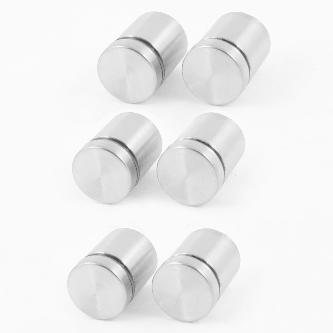 "6pcs Stainless Steel Advertisment Nails Glass Wall Connector Standoff 0.98"" Long"