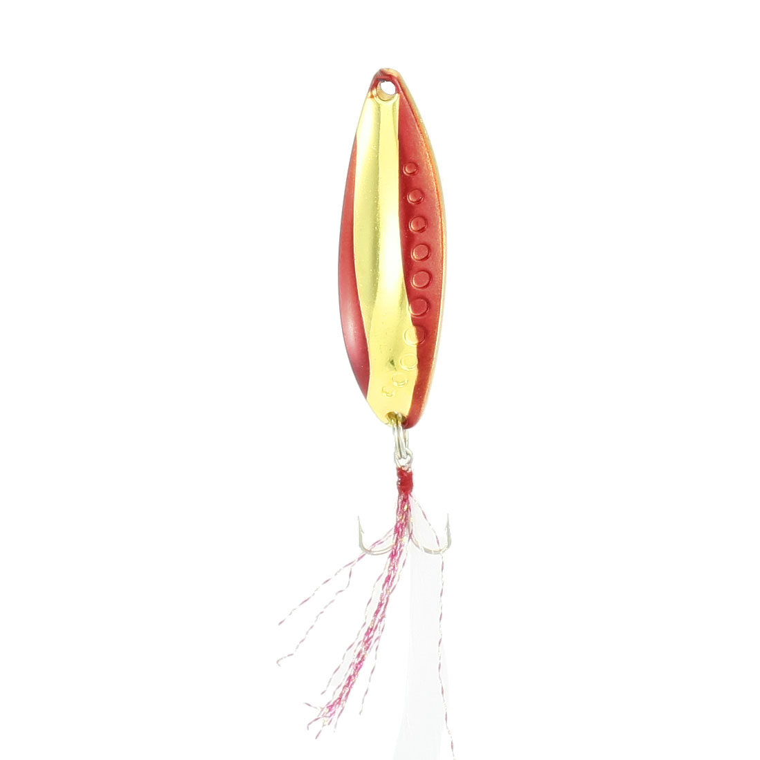 Metal Triple Hooks Artificial Leech Shape Fishing Lure