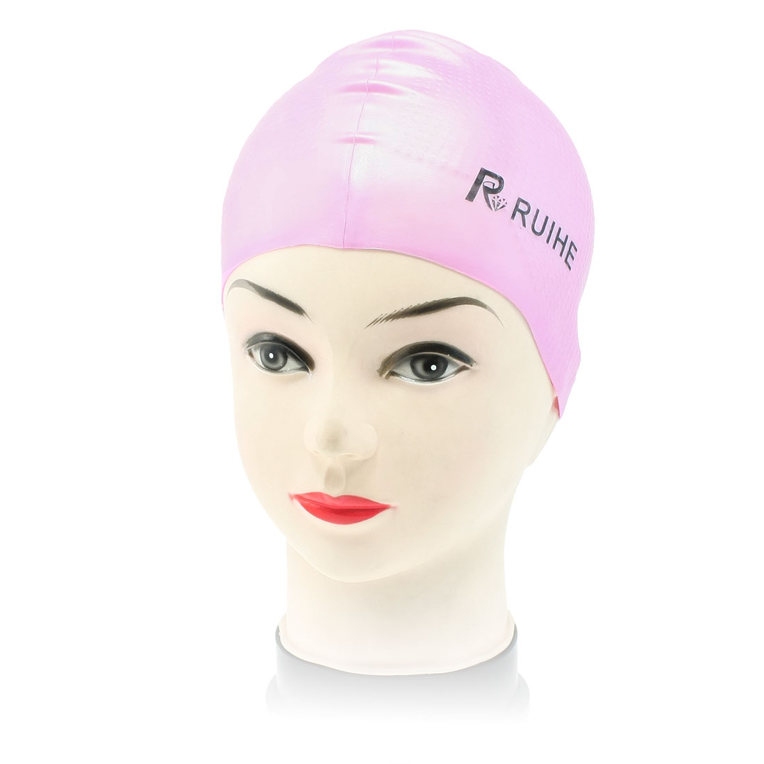 Light Purple Smooth Surface Antislip Silicone Swimming Cap