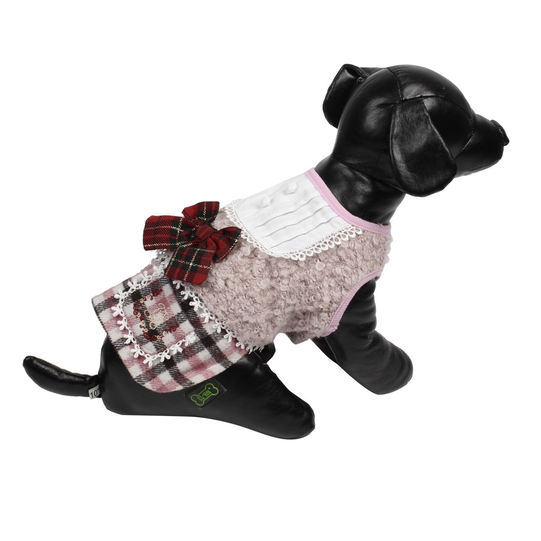 Warm Flower Lace Chihuahua Pet Dog Puppy Apparel Clothes Dress Pink XS