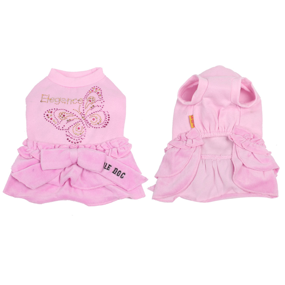 Winter Spring Yorkie Pet Dog Dress Clothing Clothes Apparel Pink M