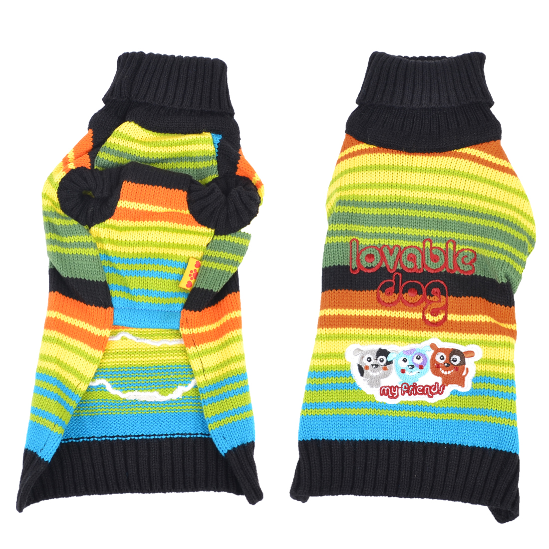 Winter Warm Colorful Hand Knit Yorkie Dog Clothing Pet Puppy Sweater M