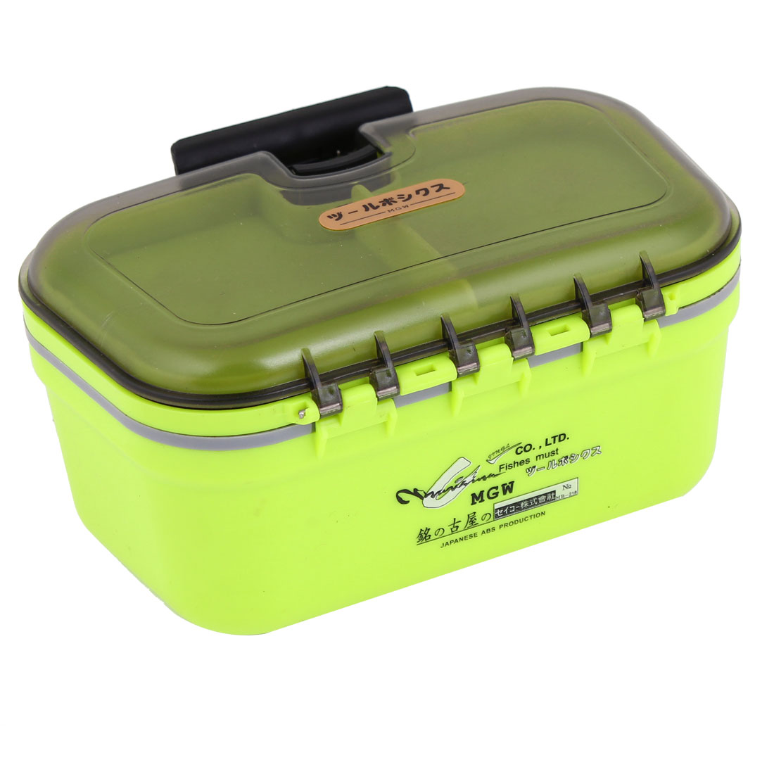 Plastic 4 Slots Electronic Components Storage Case Light Green Black