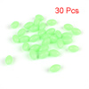 5mm x 8mm Fluorescent Ellipse Shaped Soft Plastic Fishing Beads Green 30pcs