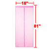 Dark Pink Magnetic Fly Screen Anti Mosquitoes Door Curtain 2.06 x 0.46m