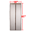 Coffee Color Magnetic Fly Screen Anti Mosquitoes Door Curtain 2.06 x 0.46m