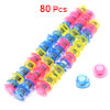80 Pcs Home Office Yellow Pink Blue Refrigerator Whiteboard Magnet Buttons