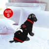 Winter Star Pattern Clothing Pet Cat Dog Sweater Dress Knitwear Black Size S
