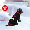 Warm Ghost Print Sleeveless Pet Dog Knitwear Knitted Sweater Dress Black M