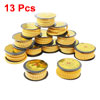 13 Rolls Yellow Flexible PVC Letter N-Z Print 1.5mm2 Wire Cable Markers Tag