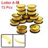 13 Rolls Yellow Flexible PVC Letter A-M Print 1.5mm2 Wire Cable Markers Tag