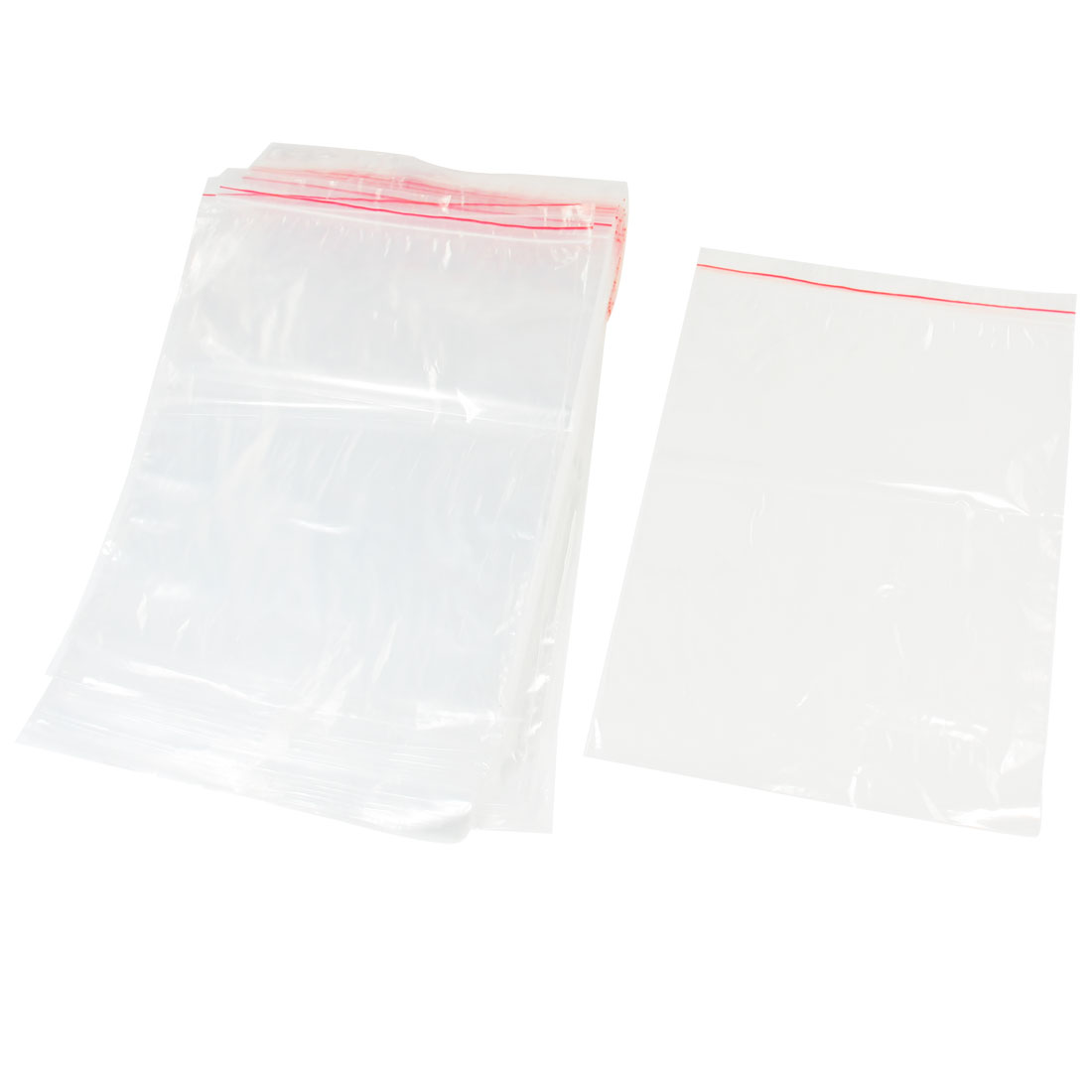 100 Pcs 26 x 18cm Clear Reclosable Grip Seal Plastic Bags