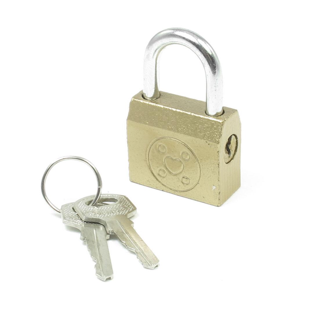 Toolbox Cabinet Door Security Lock Padlock Copper Tone w 2 Keys