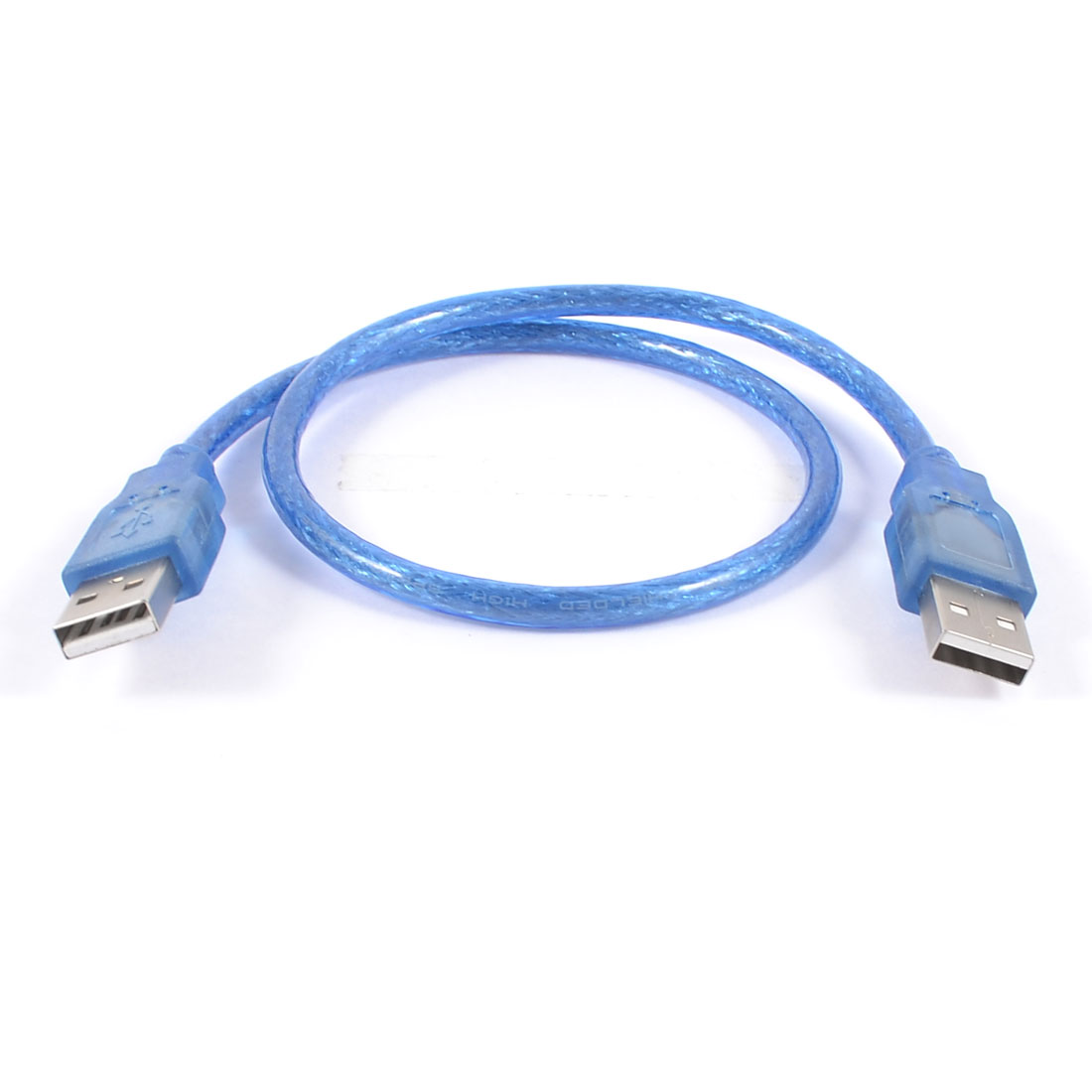 Blue Plastic Housing USB 2.0 Male to Male M/M Extension Cable Cord 50cm