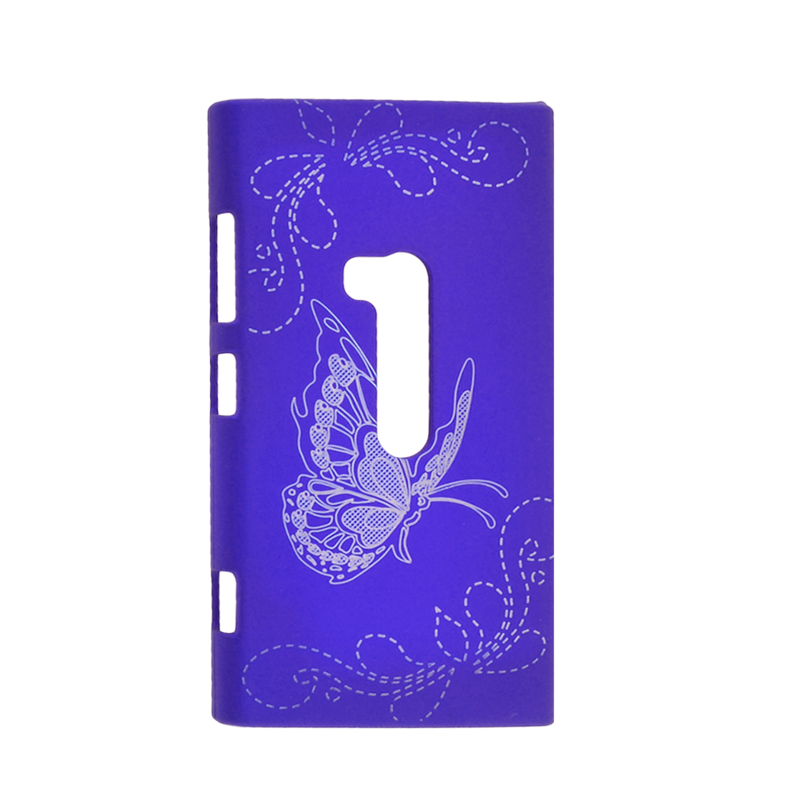 Butterfly Flower Shape Plastic Back Case Protector Blue for Nokia N920