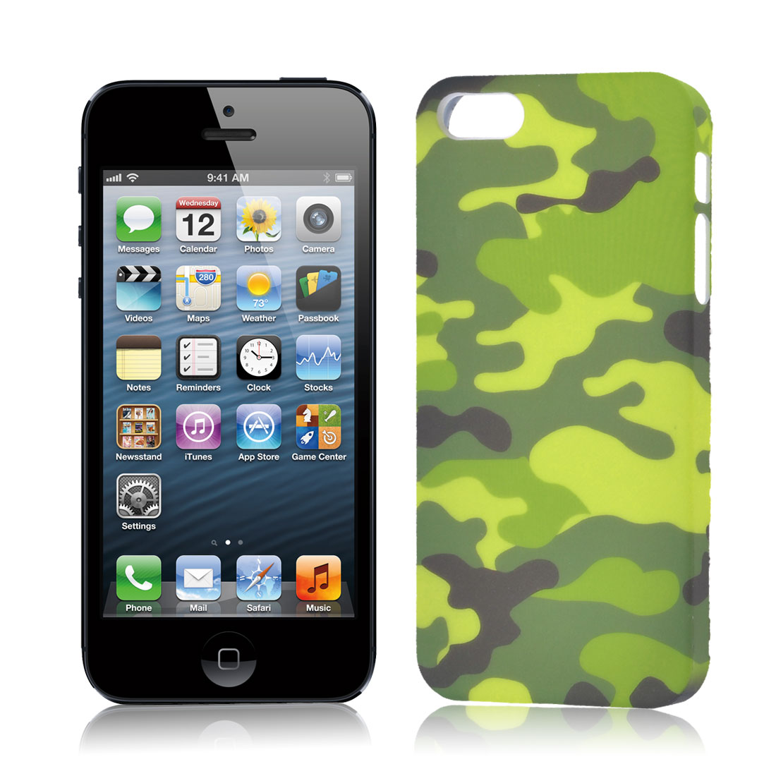 Army Green Yellow Camouflage Pattern Case Cover Protector for iPhone 5 5G