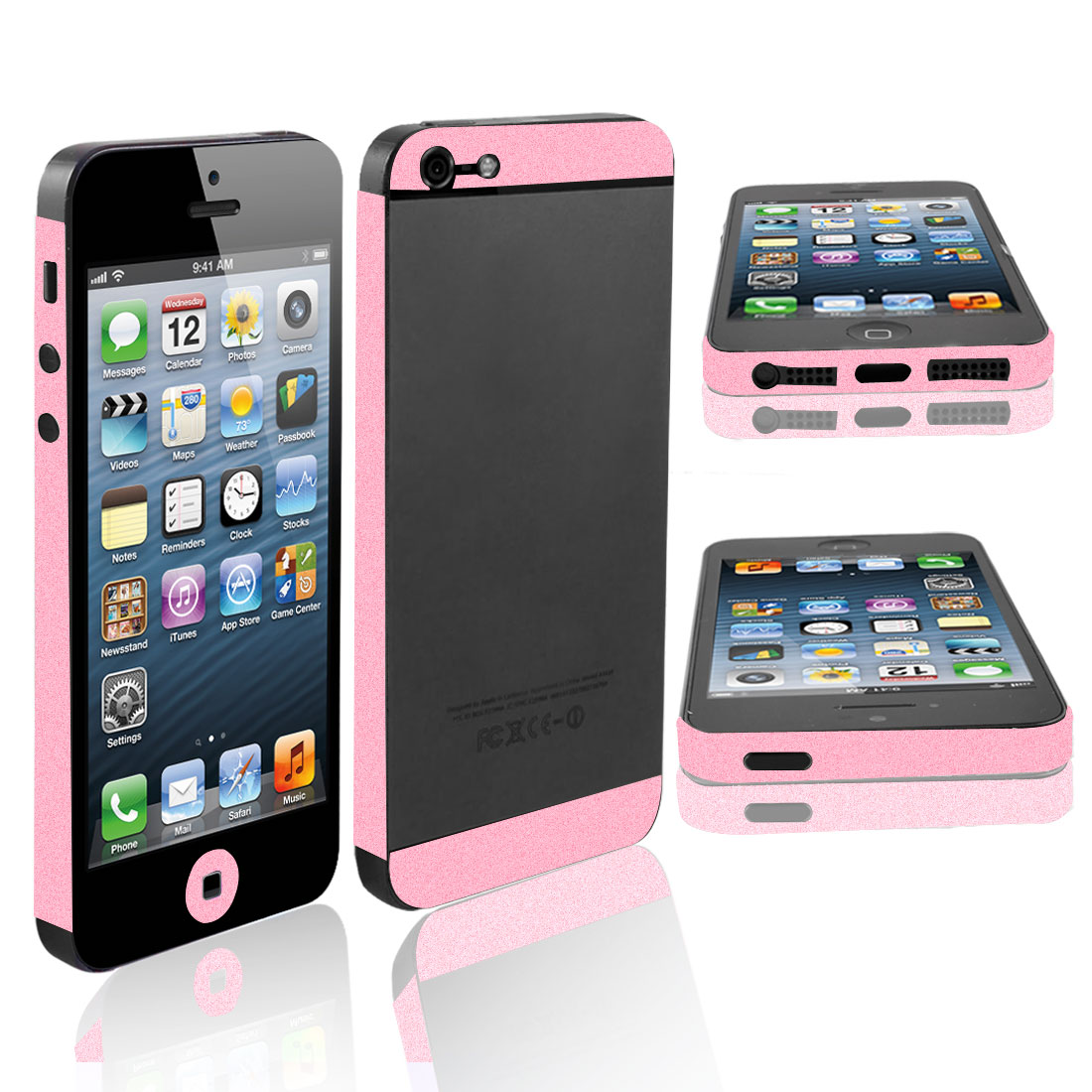 Pink Vinyl Side Decal Skin Cover Film Sticker for iPhone 5 5G