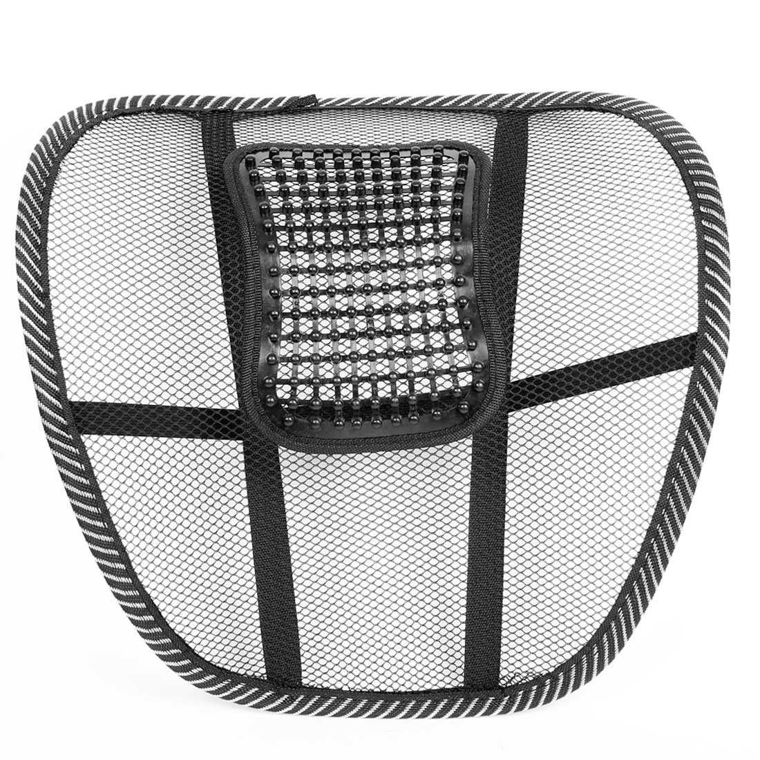 Waist Massage Cushion Elastic Strap Netted Massager Black White
