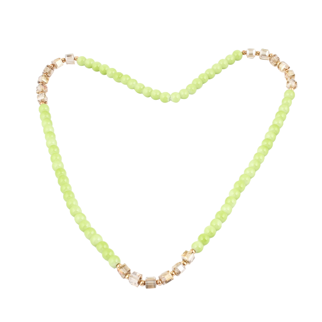 Green Beads Plastic Crystal Detail Pendant Bracelet Ring Necklace for Girls