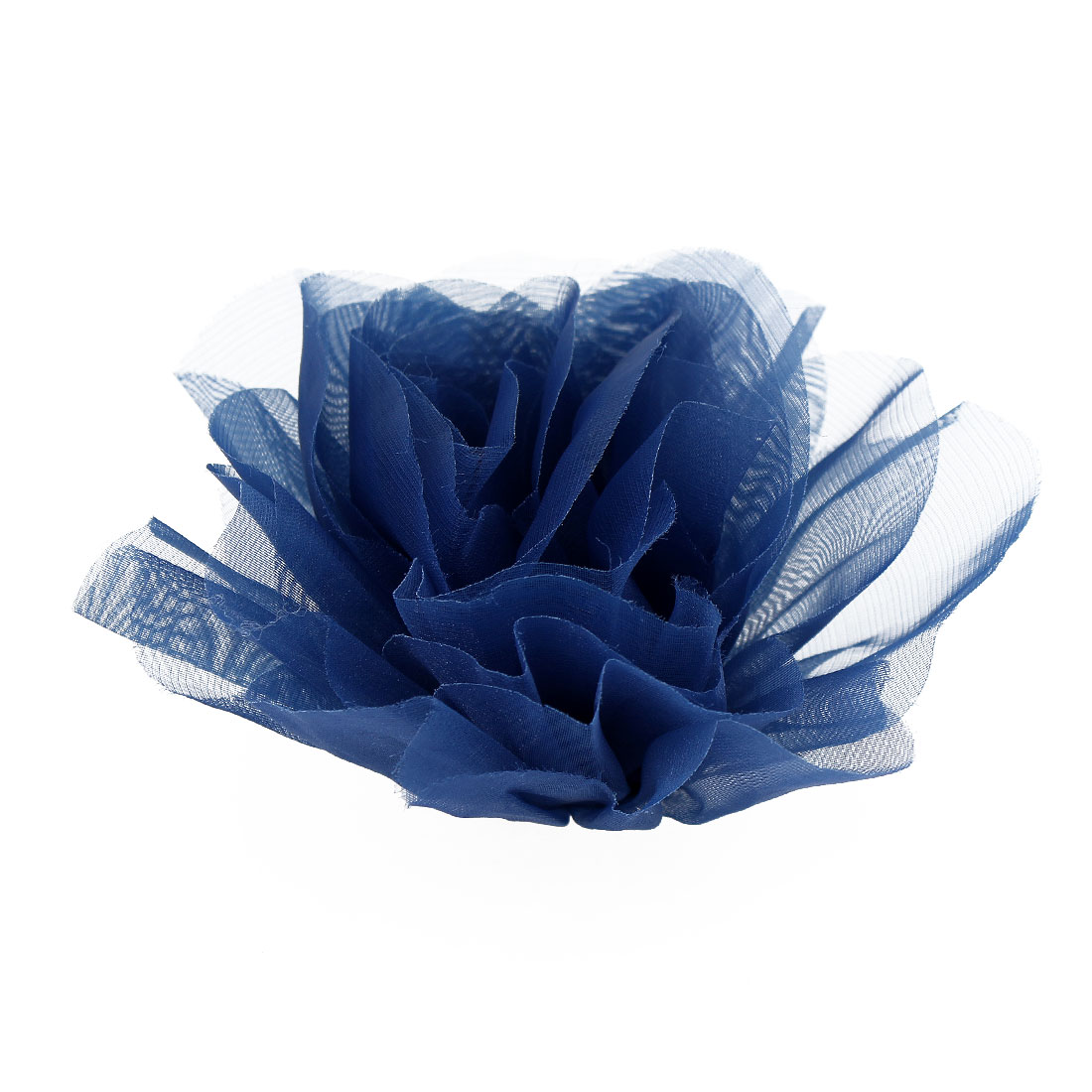 Party Blue Organza Flower Design Corsage Brooch Pin for Lady