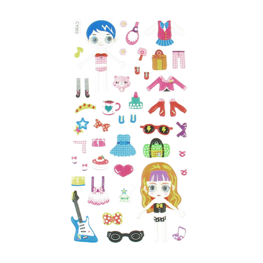 Wobble Eyes Boy Girl Dolls Dress Up DIY Craft Puffy Sticker