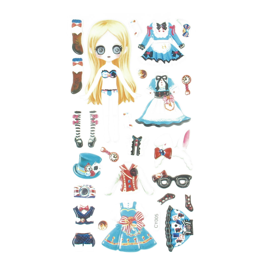 Wobble Eyes Girl Dolls Dress Up DIY Craft Foam Sticker Decal