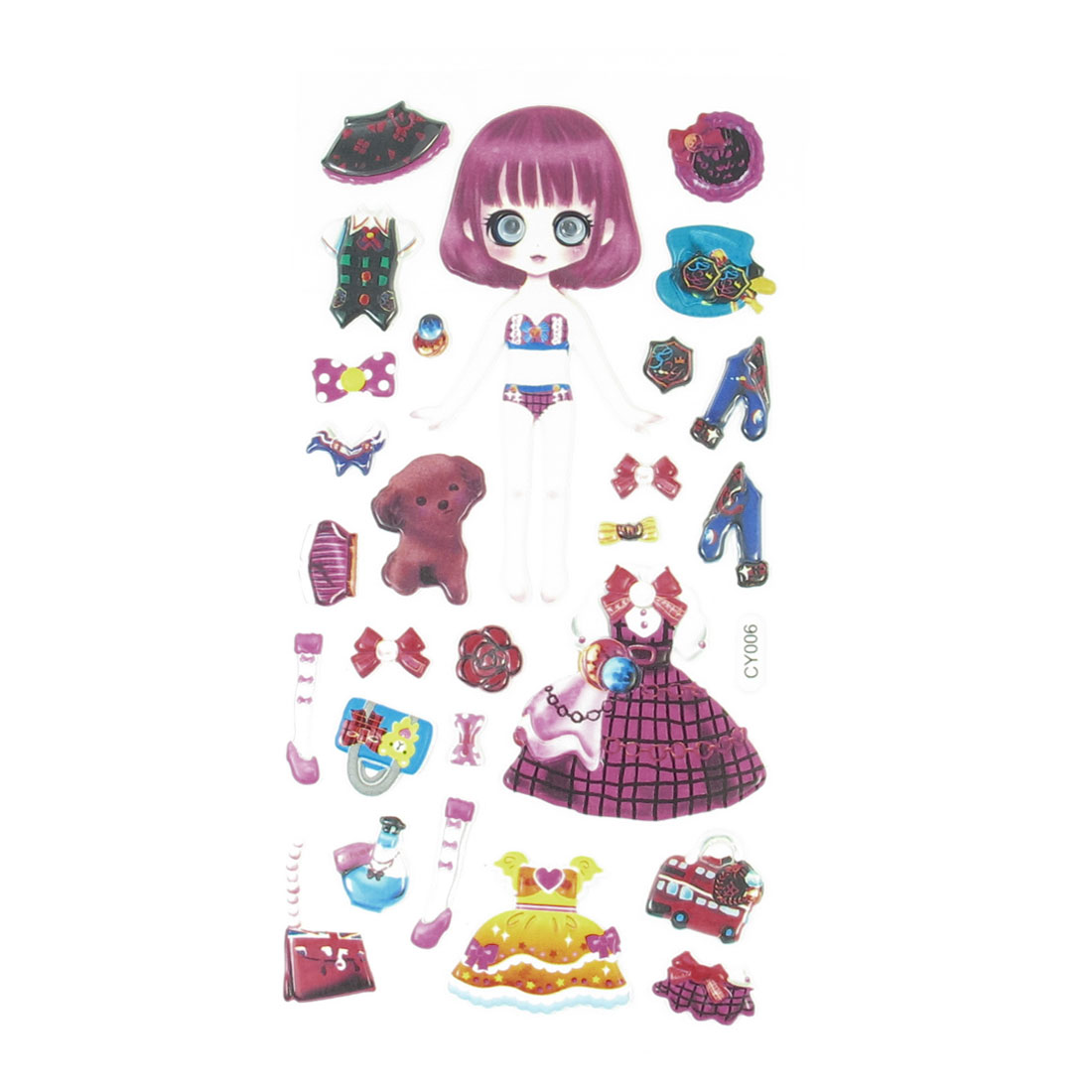 Colorful Plastic Wobble Eyes Girls Dress Up Princess Foam Sticker