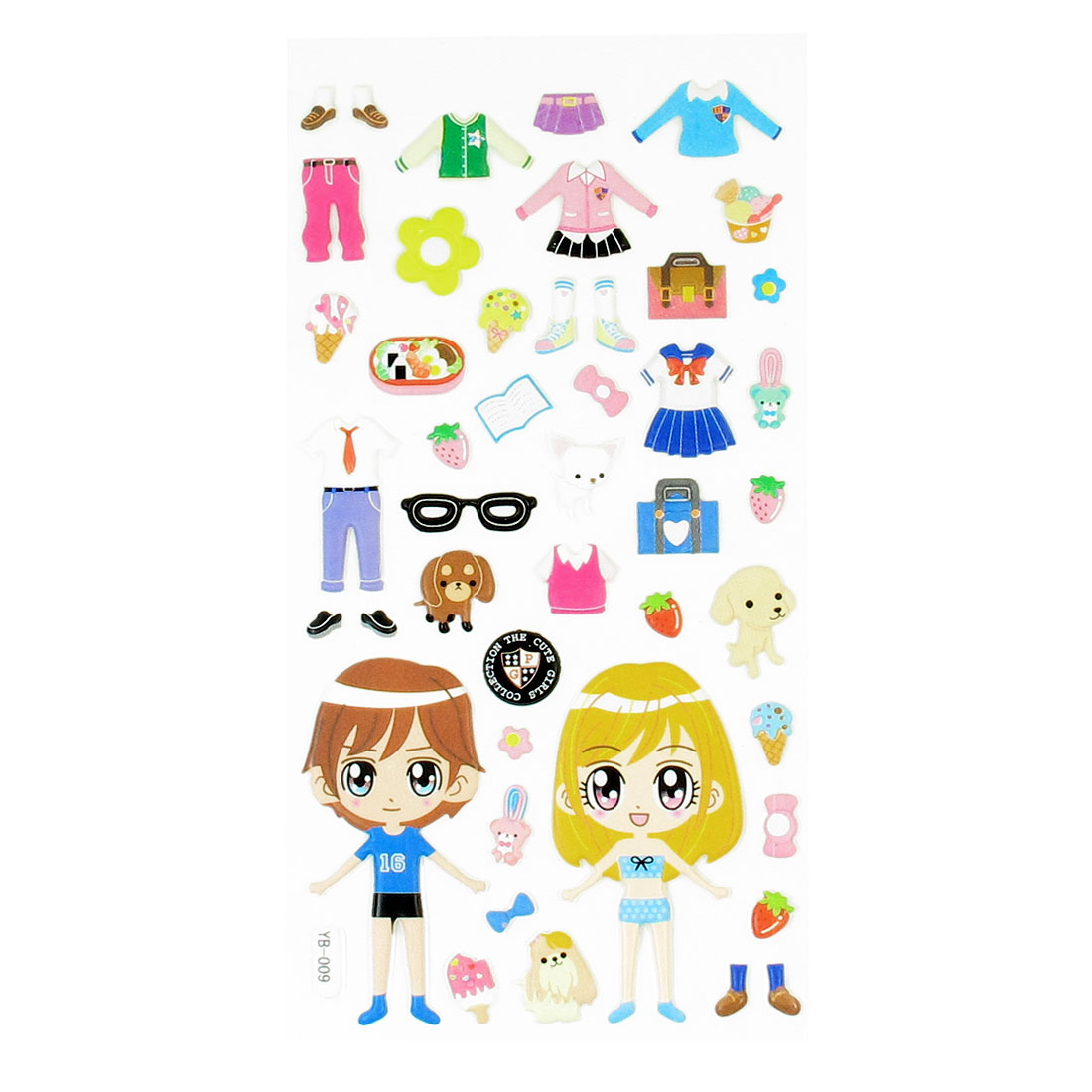 Girls Boys Dress-up Crafts DIY Sponge Puffy Stickers Decals Sheet