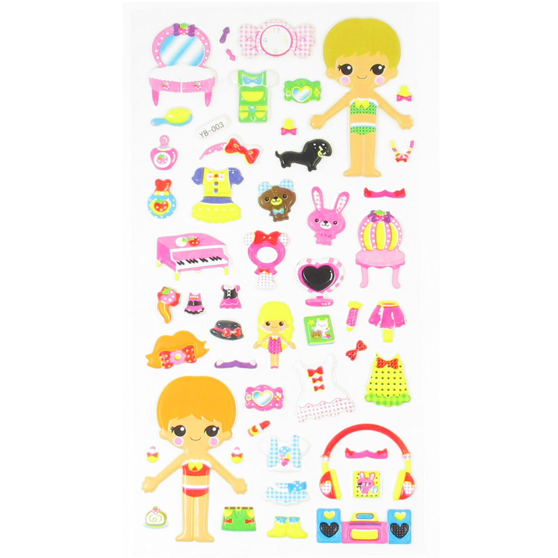 Kids Gift Boys Girls Dress Up Dolls DIY Crafts Foma Sticker Sheet