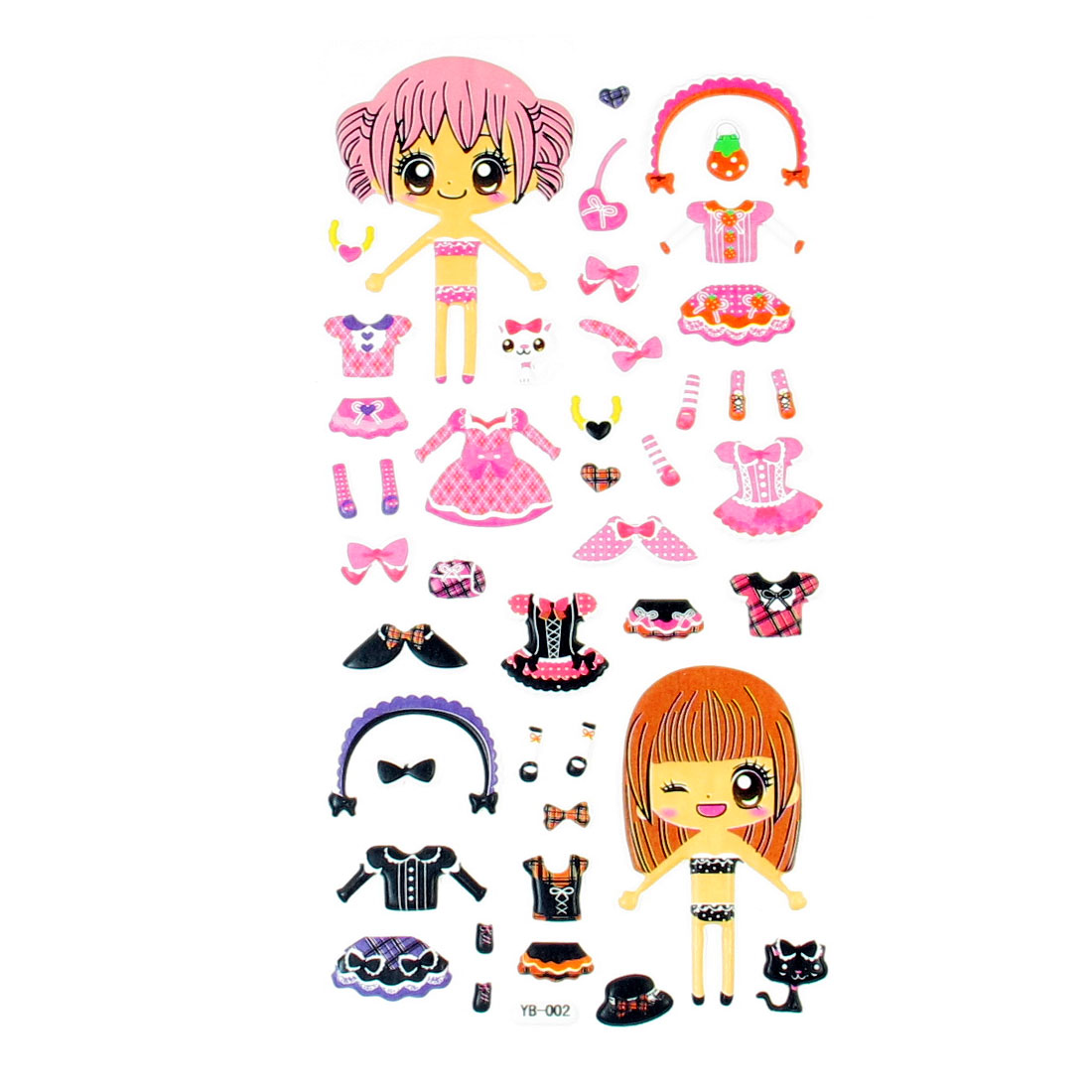 Children Gift Dress Up Dolls DIY Crafts Puffy Sticker Sheet