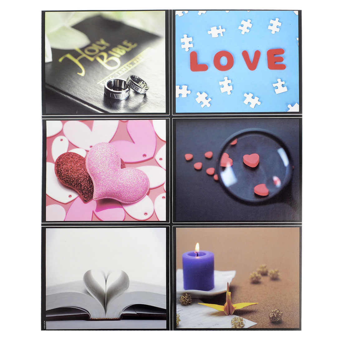House Wall Ceramic Tiles Sticker Hearted Pattern Home Mural Decor