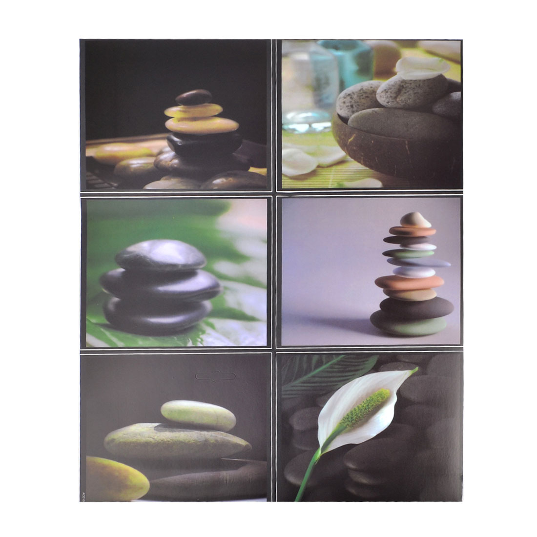 Kitchen Wall Ceramic Tile Sticker Sea Pebble Stone Pattern Home Decorations
