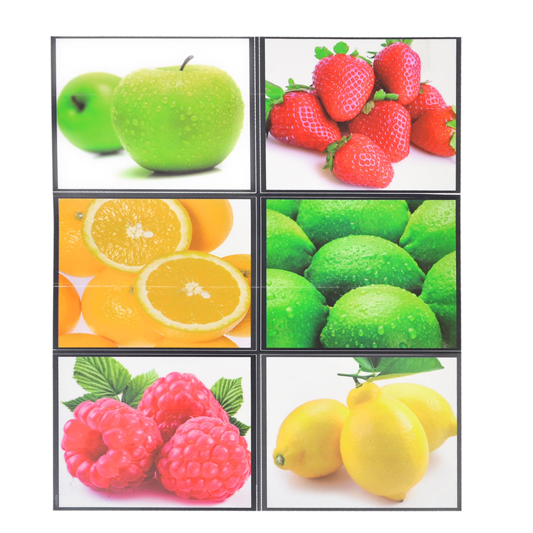 Kitchen Mural Desk Table Window Cabinets Decor Fruit Pattern Sticker Sheet