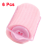 6 Pcs Sponge Hair Care Roller Curler Beauty Tool Pink for Ladies