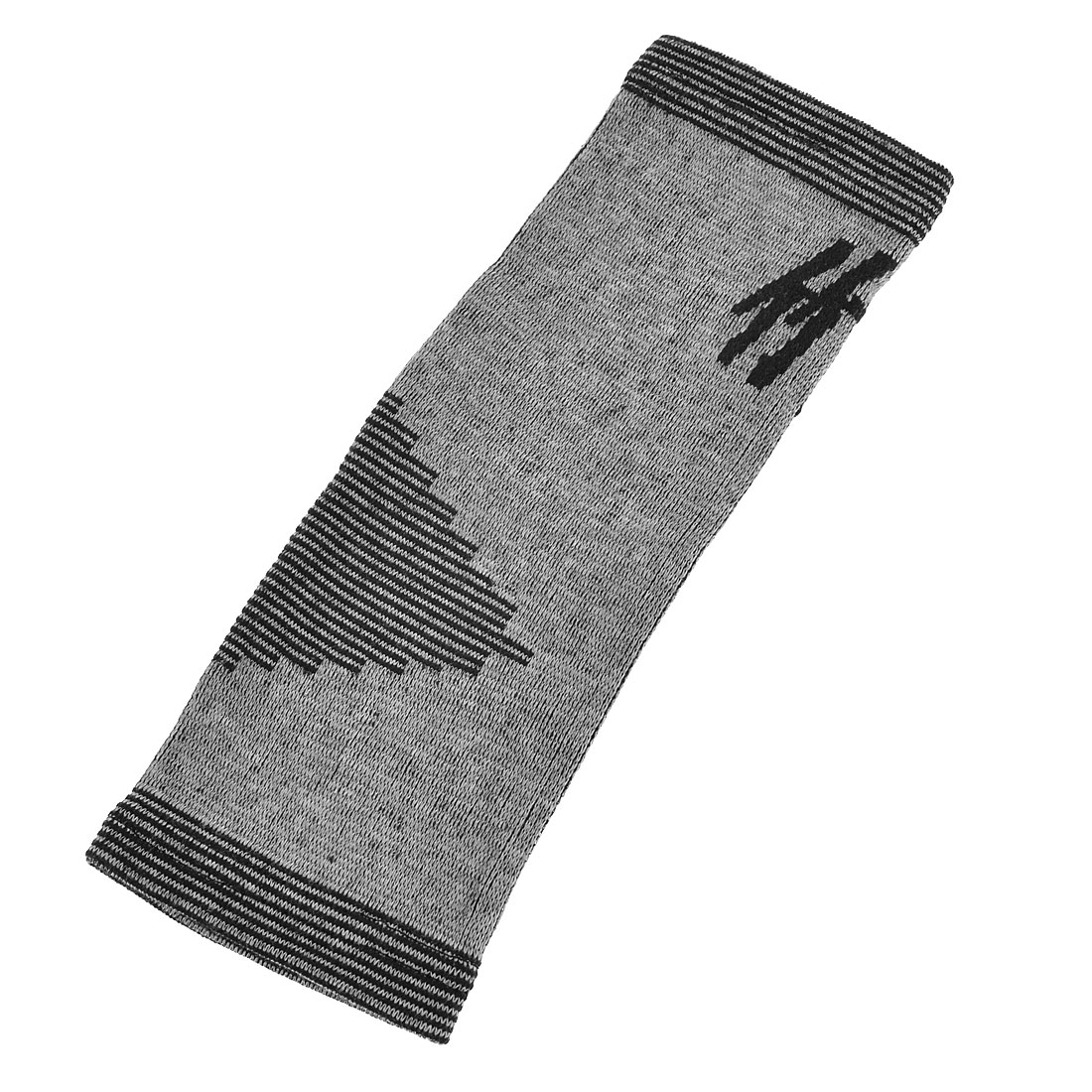 Mini Checker Pattern Ankle Stretch Sleeve Support Black Gray