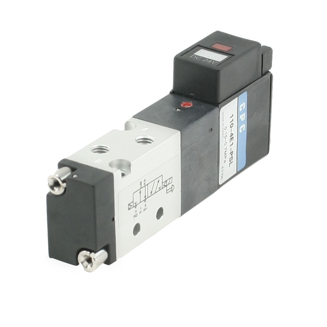 110-4E1-PSL 5 Way 2 Position 4mm Pneumatic Solenoid Valve
