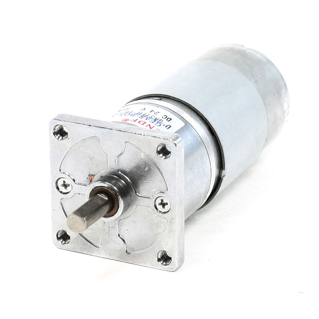 DC 24V 200RPM 6mmx15mm Shaft 38mm Diameter Electric Power Geared Motor