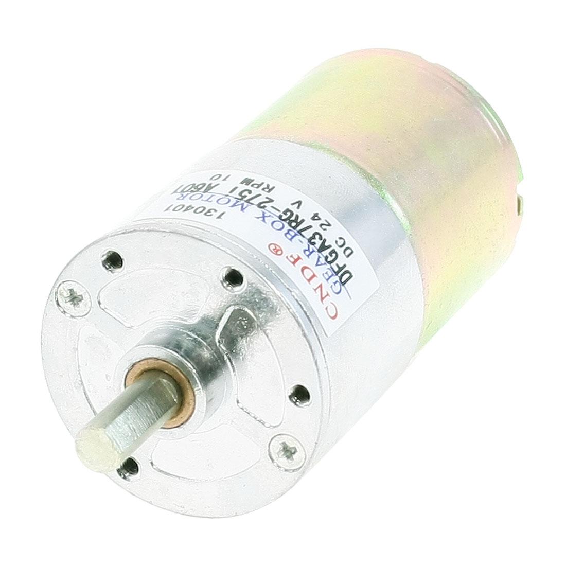 13.14kg.cm Torque Terminal Magnetic Gear Motor 10 RPM 24V DC