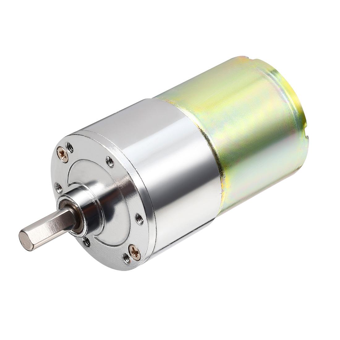 13.14Kg.cm 6mm Shaft Permanent Magnetic Gear Box Motor 100 RPM DC 24V