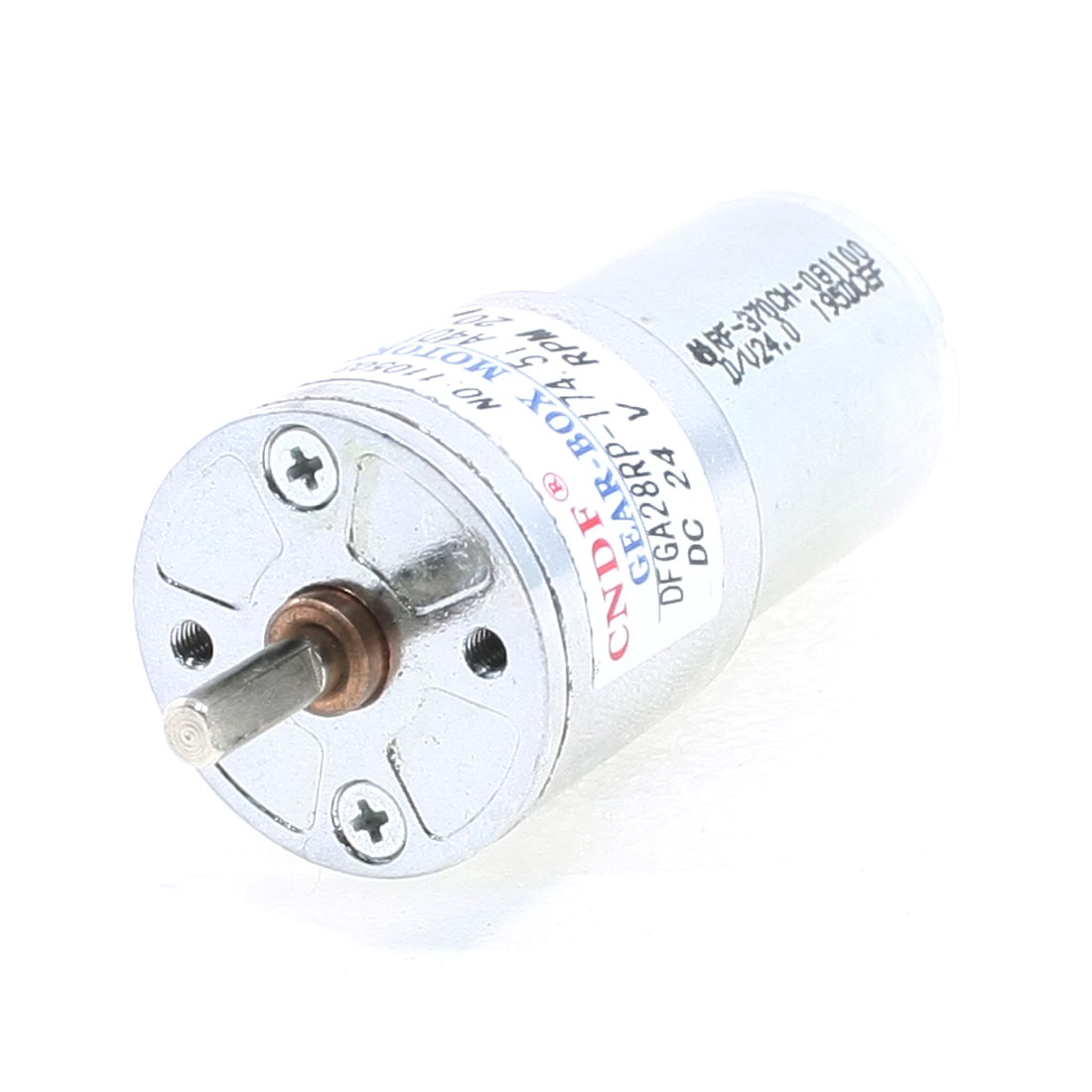 20RPM 24VDC 4mm Shaft Dia Speed Reducing Geared Motor